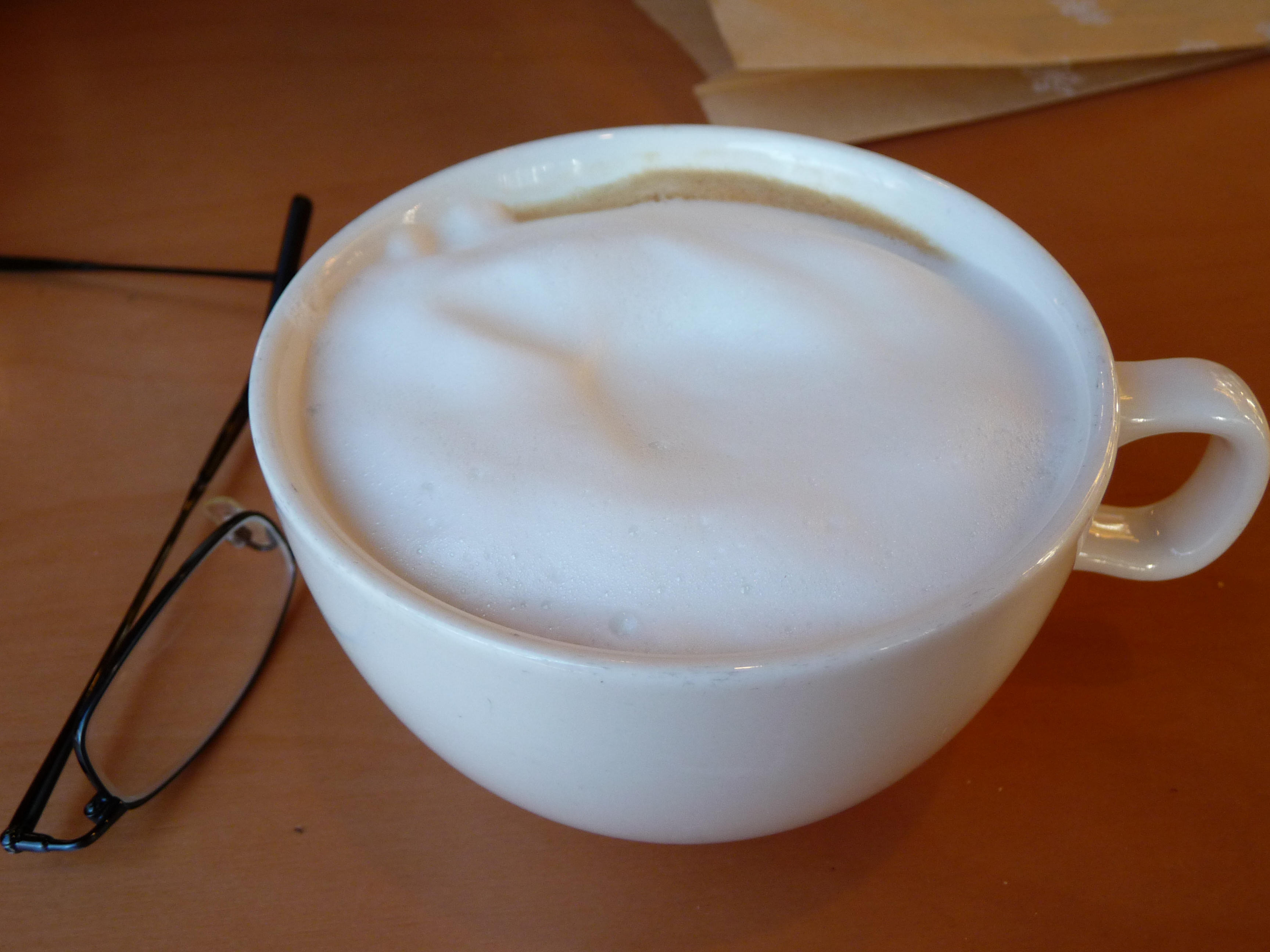 It is a pretty (though large) cappuccino
