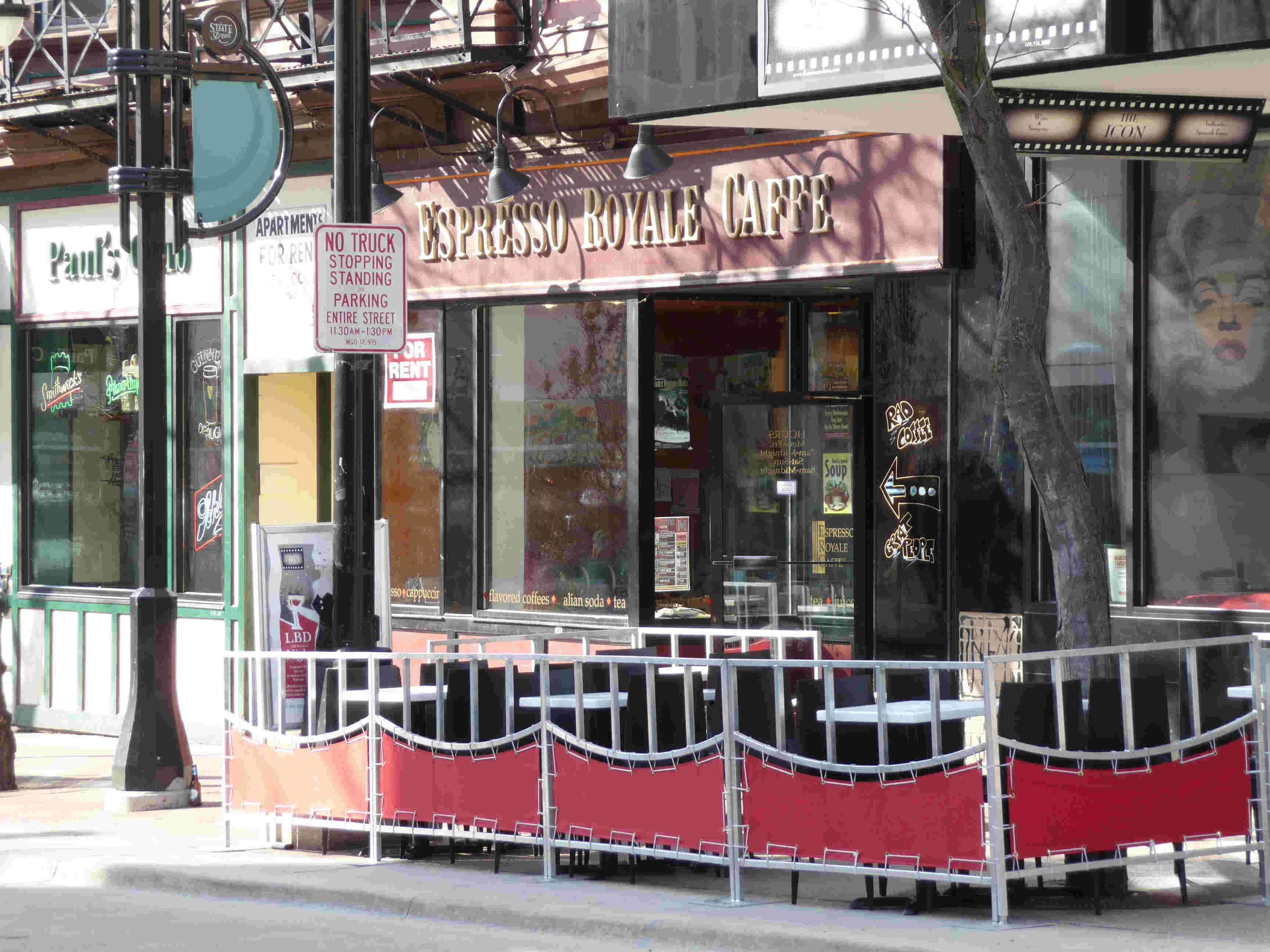 The Espresso Royal near the Capitol; the outdoor seating in the picture isn't theirs.