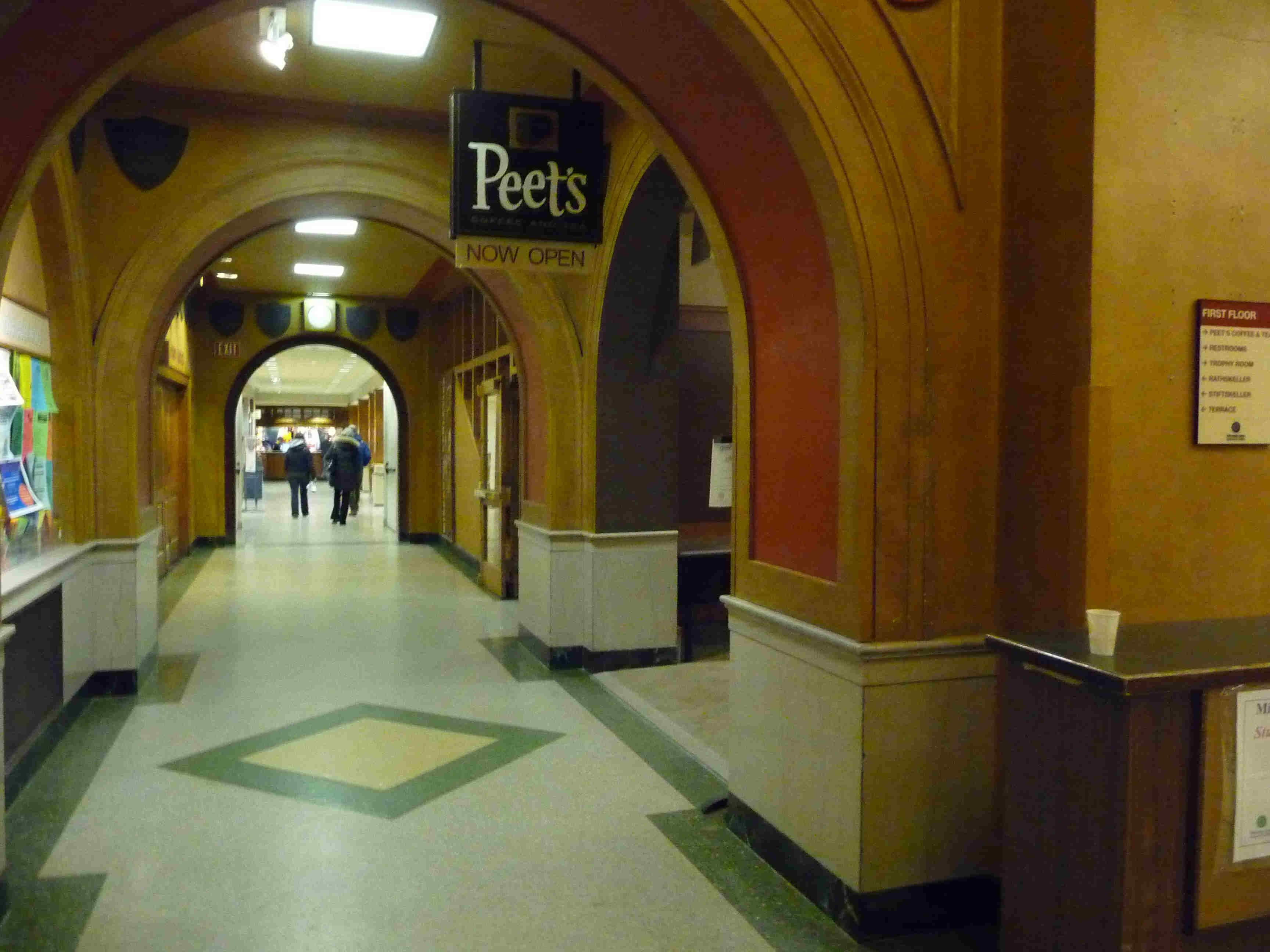 Peet's in Memorial Union on the UW campus