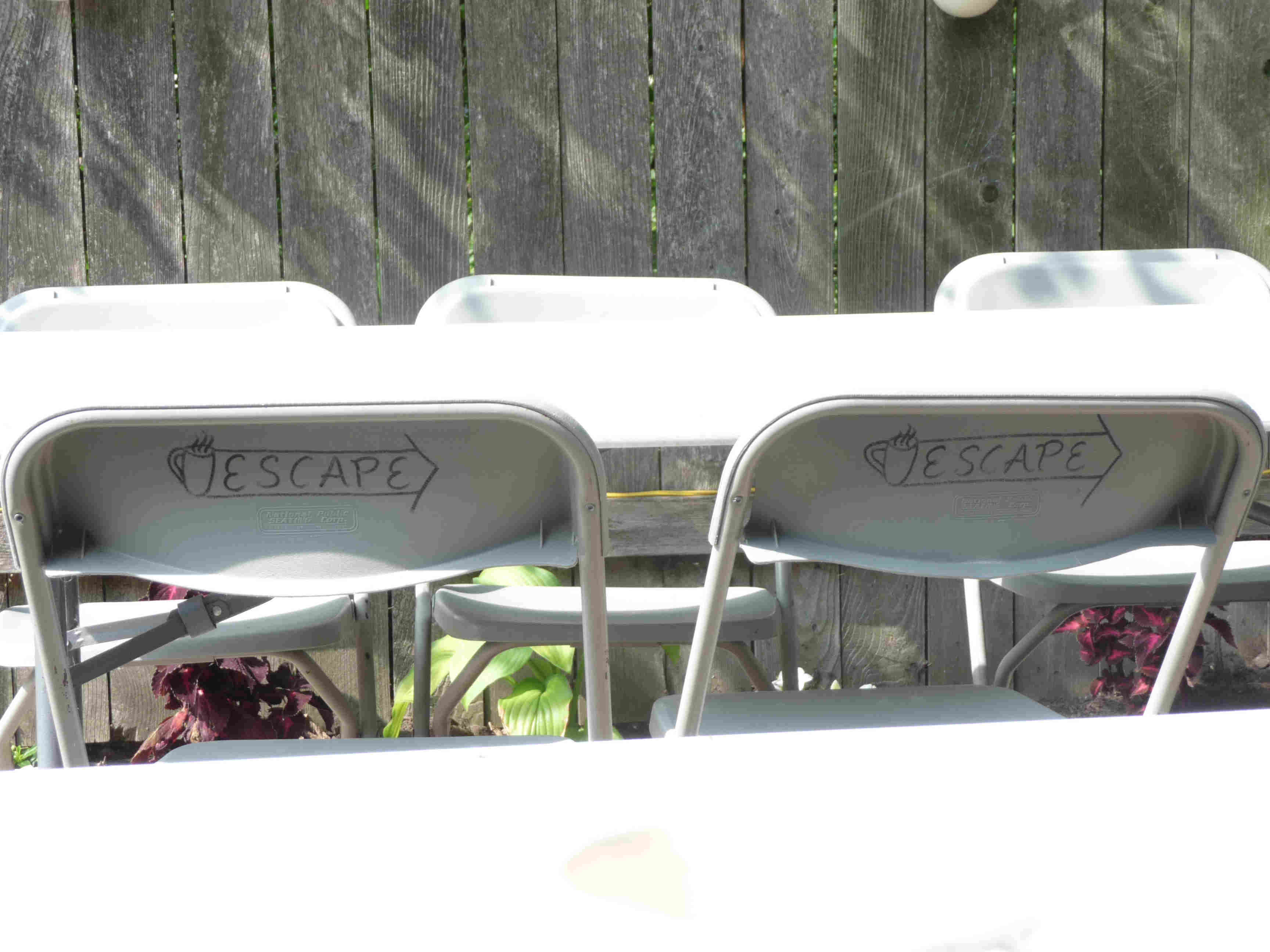 I wonder if someone tried to take these awesome chairs....